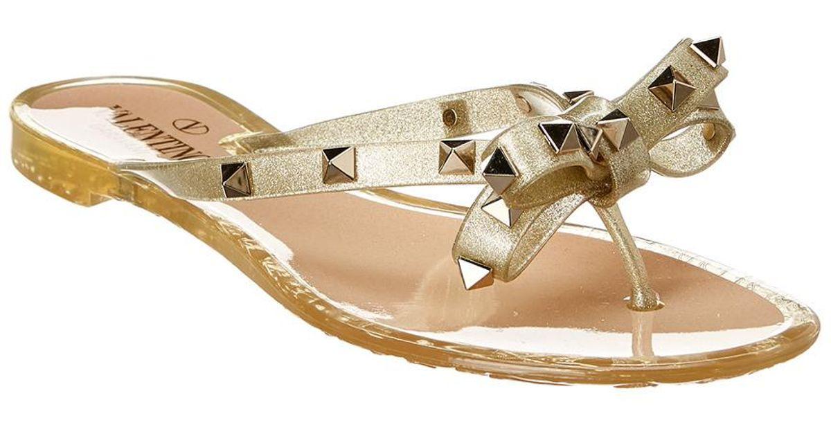 Valentino Rockstud Bow Glitter Jelly