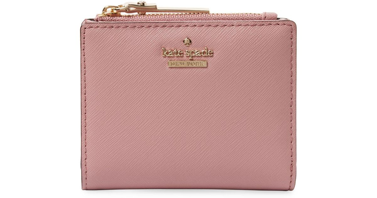 ac440cd55c84e Lyst - Kate Spade Cameron Street Adalyn Short Leather Wallet in Pink
