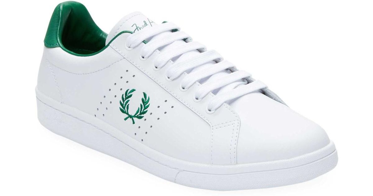 f6c89763f1c2b Lyst - Fred Perry Kingston Twill Low Top Sneakers in White for Men
