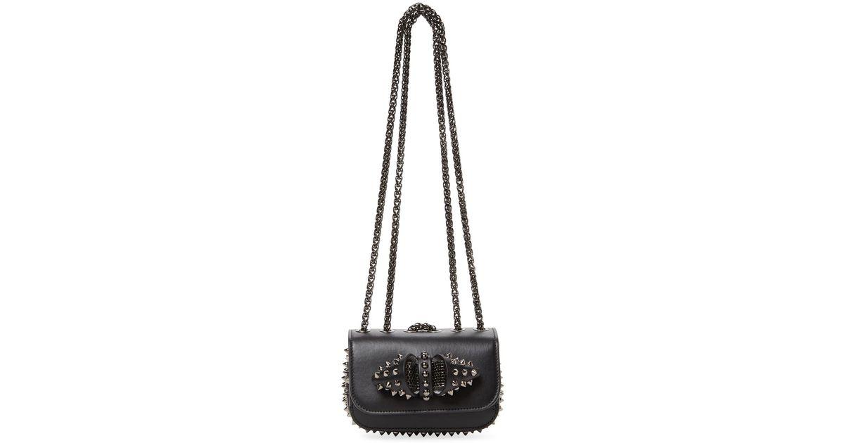 edbd8a4f957 Christian Louboutin - Black Sweet Charity Mini Leather Shoulder Bag - Lyst