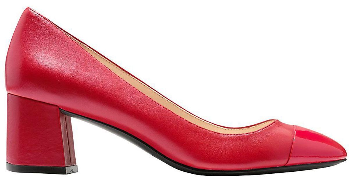 cc8d24d73be Cole Haan Red Dawna Leather Pumps