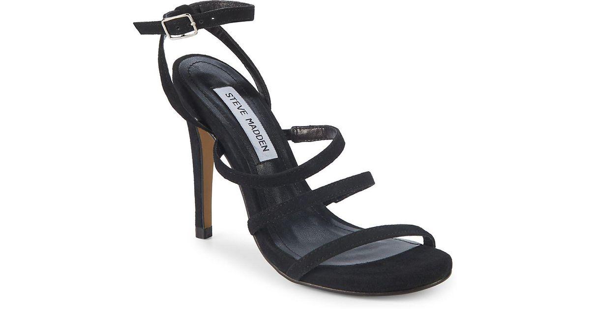 4b7d396e3de Lyst - Steve Madden Fairyn Strappy Suede Sandals in Black
