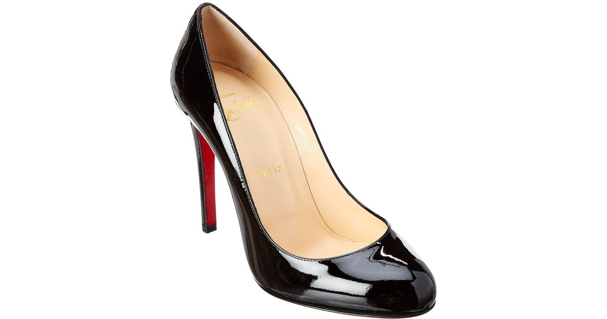 best service 790fe bbed9 Christian Louboutin Black Fifille 100 Patent Pump