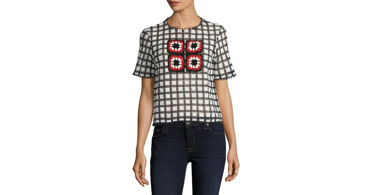 Endless rose Checkerboard Pattern Crochet Top | Lyst