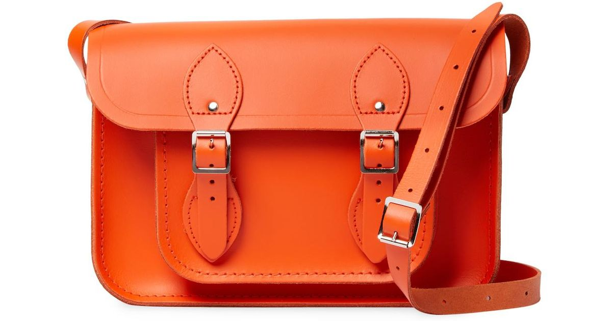 73837da3db978 Lyst - Cambridge Satchel Company Leather Satchel Bag in Orange