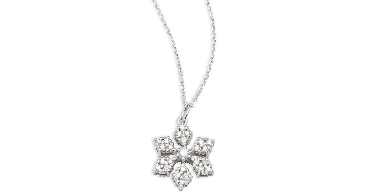 Lyst kc designs diamond 14k white gold snowflake pendant lyst kc designs diamond 14k white gold snowflake pendant necklace in metallic aloadofball Image collections