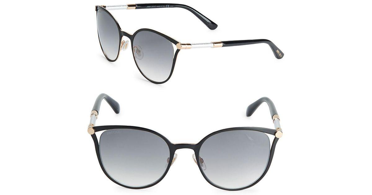 Jimmy Choo Neiza 54mm Cat Eye Sunglasses in Metallic - Lyst d42219aa67