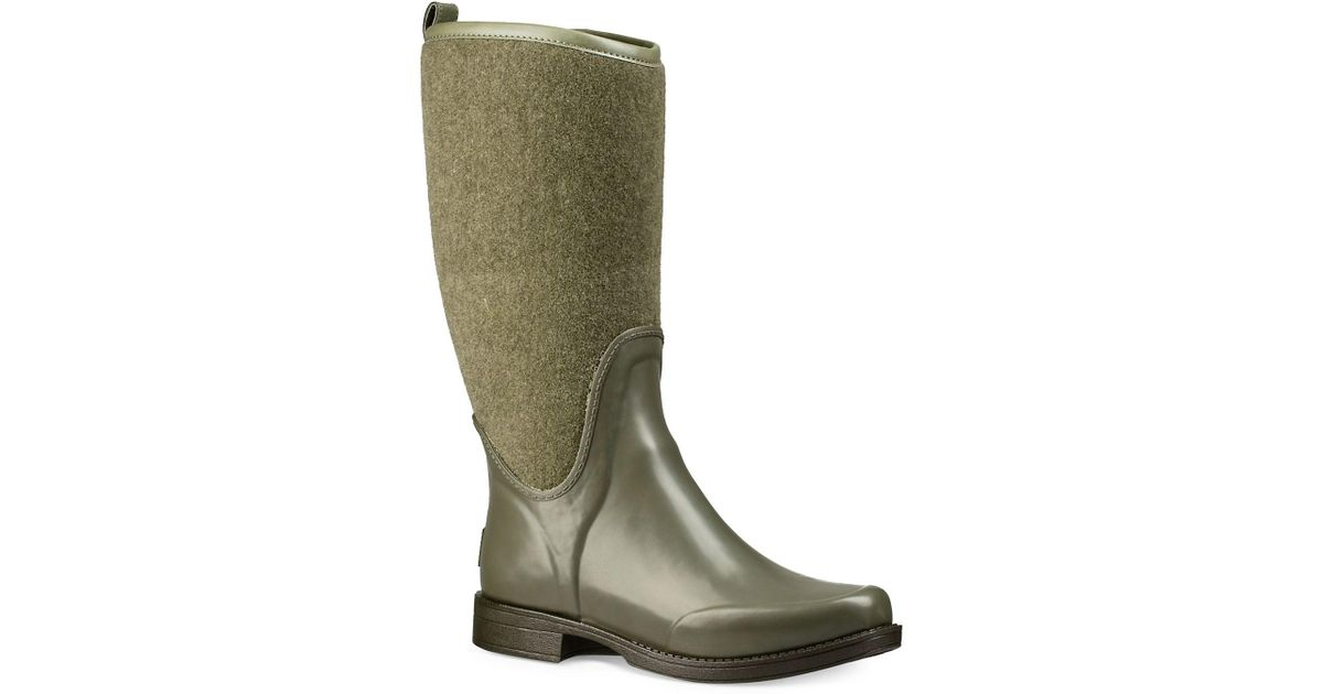 445090764c7 Ugg Green Wendell Reignfall Faux Fur All-weather Boots