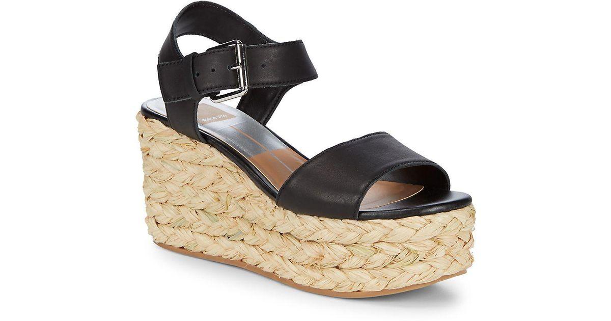 ae9f19abcd3 Dolce Vita Black Sanna Espadrille Wedge Sandals