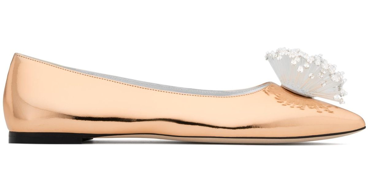 Giuseppe Zanotti Patent leather ballerina flat with accessory NANCIE SUPERNOVA pryxveDzDp