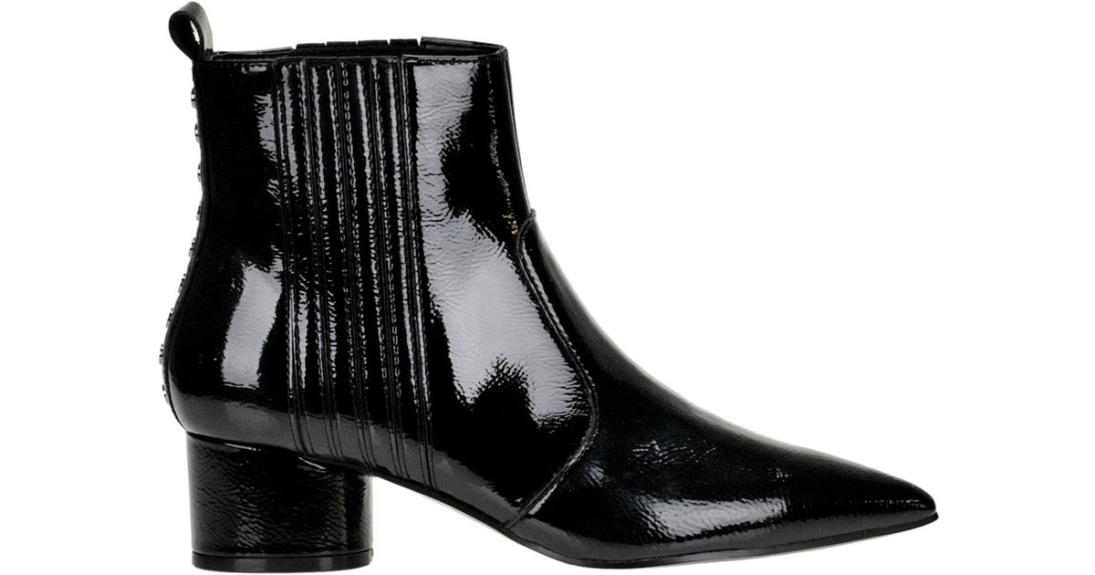 bbc773c72bc Kendall + Kylie Black Laila Patent-leather Ankle-boots