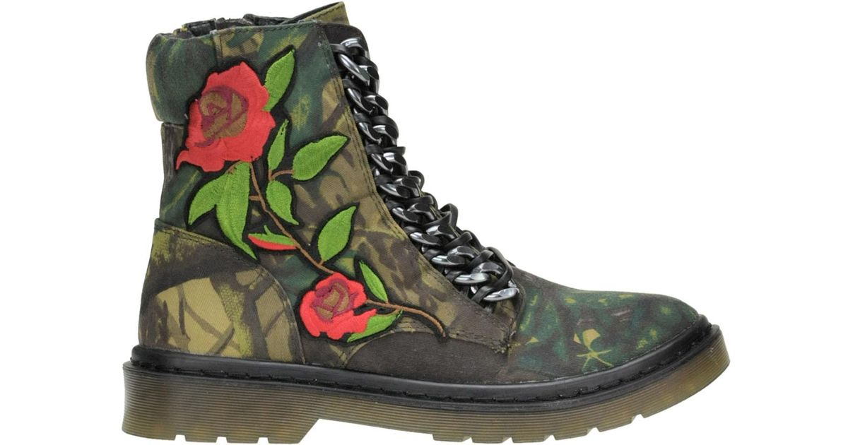 cafdc628a7e Steve Madden Punkster Combat Boots in Green - Lyst
