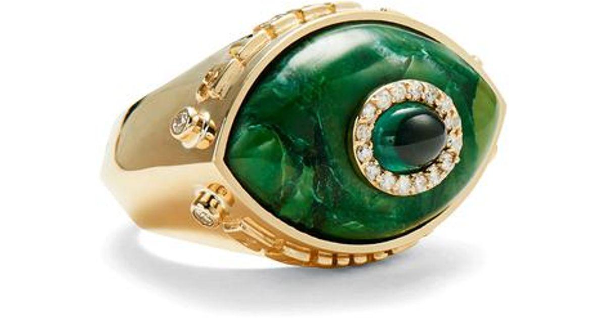 Iris 14-karat Rose Gold Multi-stone Ring - 6 Marlo Laz niIOYCpI