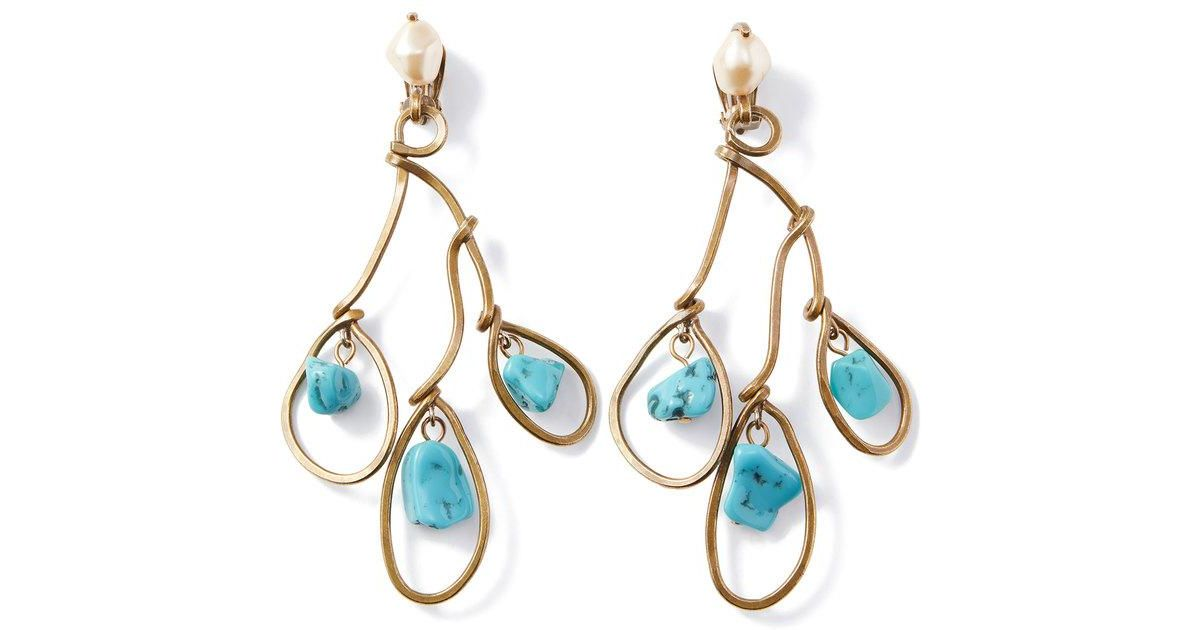 The V Collection earrings lemon topaz and pyrite gold plated gemstone dangling earrings