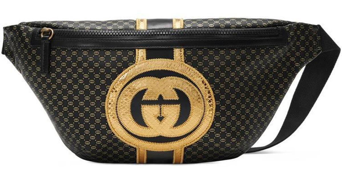 59ae256763c Gucci -dapper Dan Belt Bag in Black for Men - Lyst