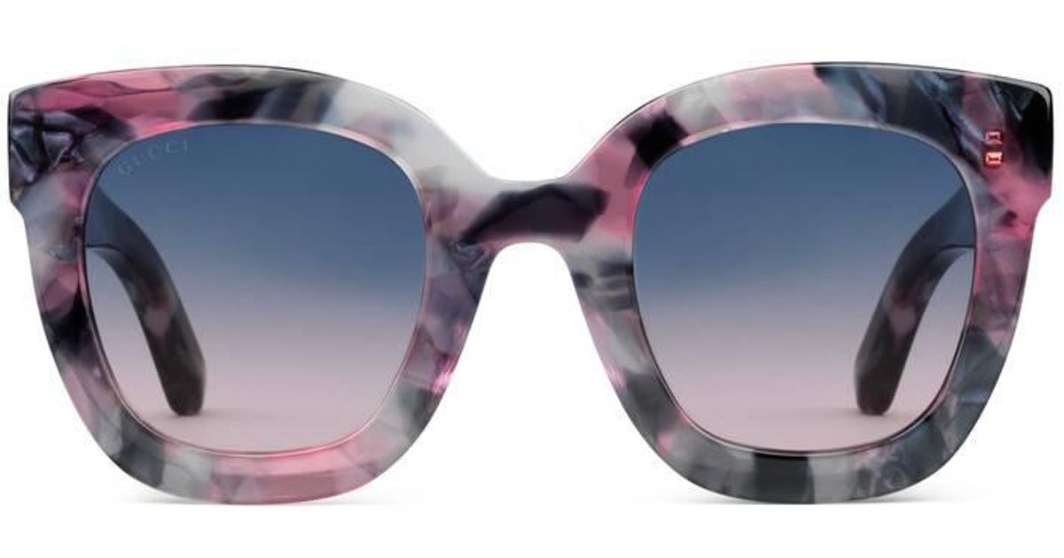 Crafted in Italy of shiny black acetate Gucci39s GG0208S sunglasses 7b6df355ca4e