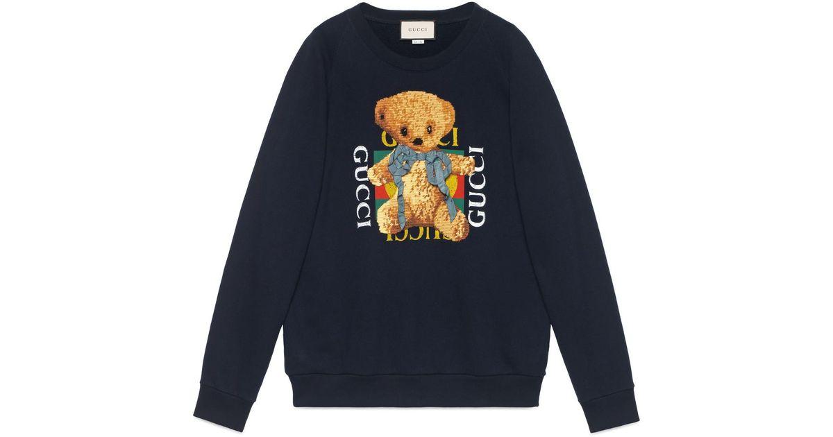 ec9c71f7b3 Gucci Black Logo Sweatshirt With Teddy Bear