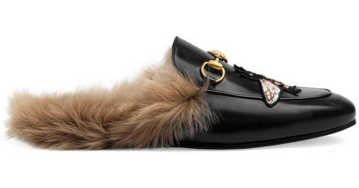 Gucci Leather Princetown Slipper With