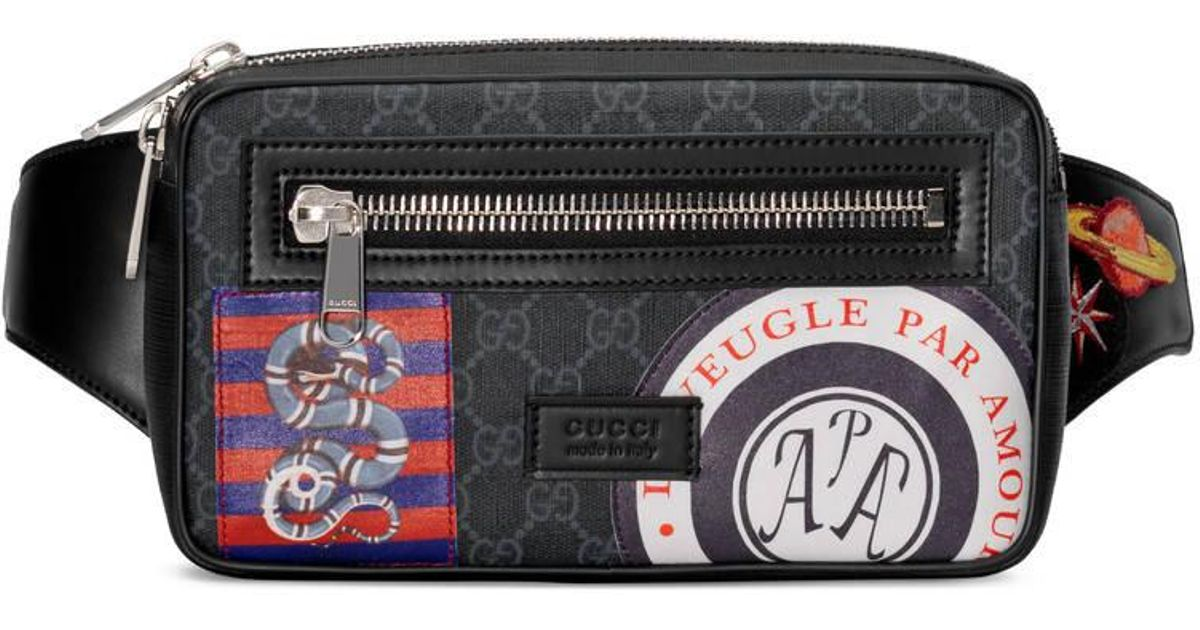 48037941e98 Lyst - Gucci Night Courrier Soft GG Supreme Belt Bag in Black for Men