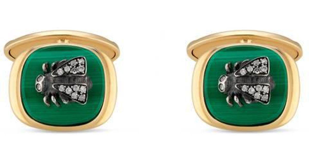 47860ac5a Lyst - Gucci Le Marché Des Merveilles Cufflinks in Green for Men