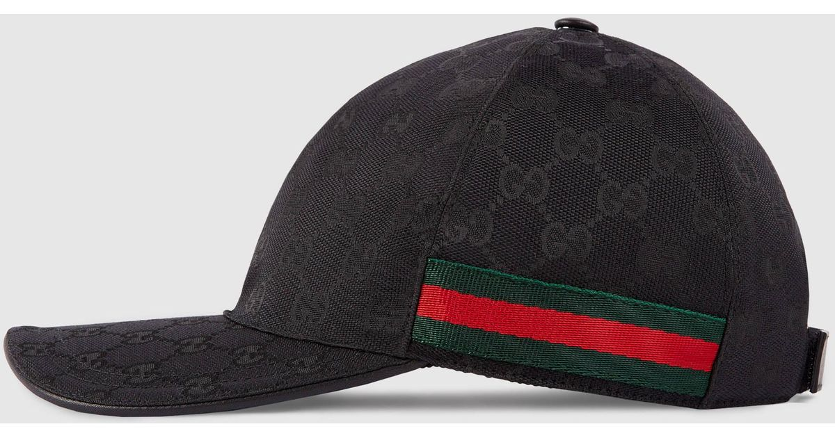 Gucci Original Gg Canvas Baseball Hat With Web in Black for Men - Lyst 7b74fd36e69