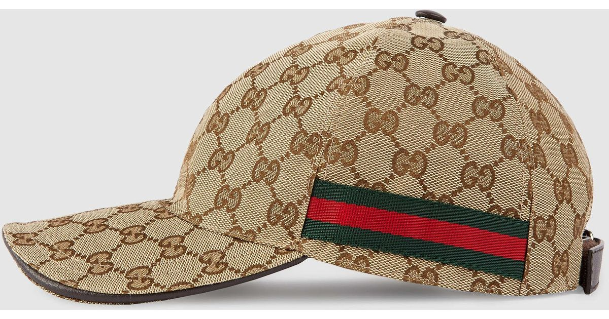Lyst - Gucci Original Gg Canvas Baseball Hat With Web in Natural for Men fe729e6fba0