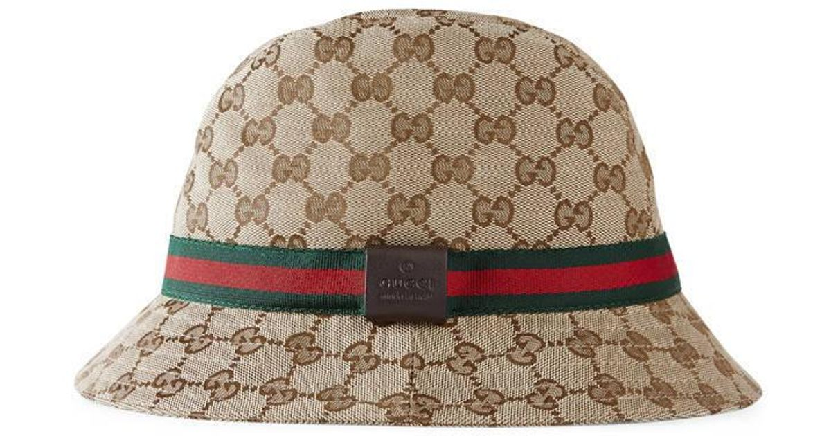 97c6910ab84ab9 Gucci Original Gg Canvas Fedora With Web in Natural for Men - Lyst
