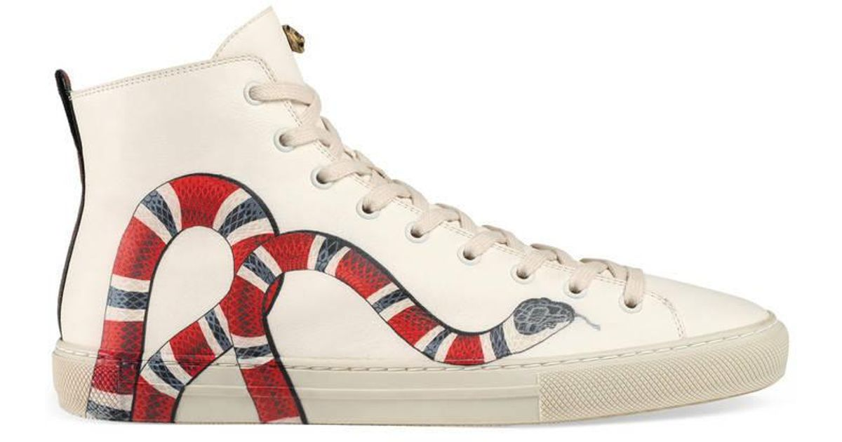Gucci Leather High-top With Snake in