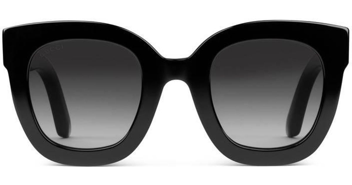 bd71374df Gucci Round-frame Acetate Sunglasses With Star in Black - Save 5% - Lyst