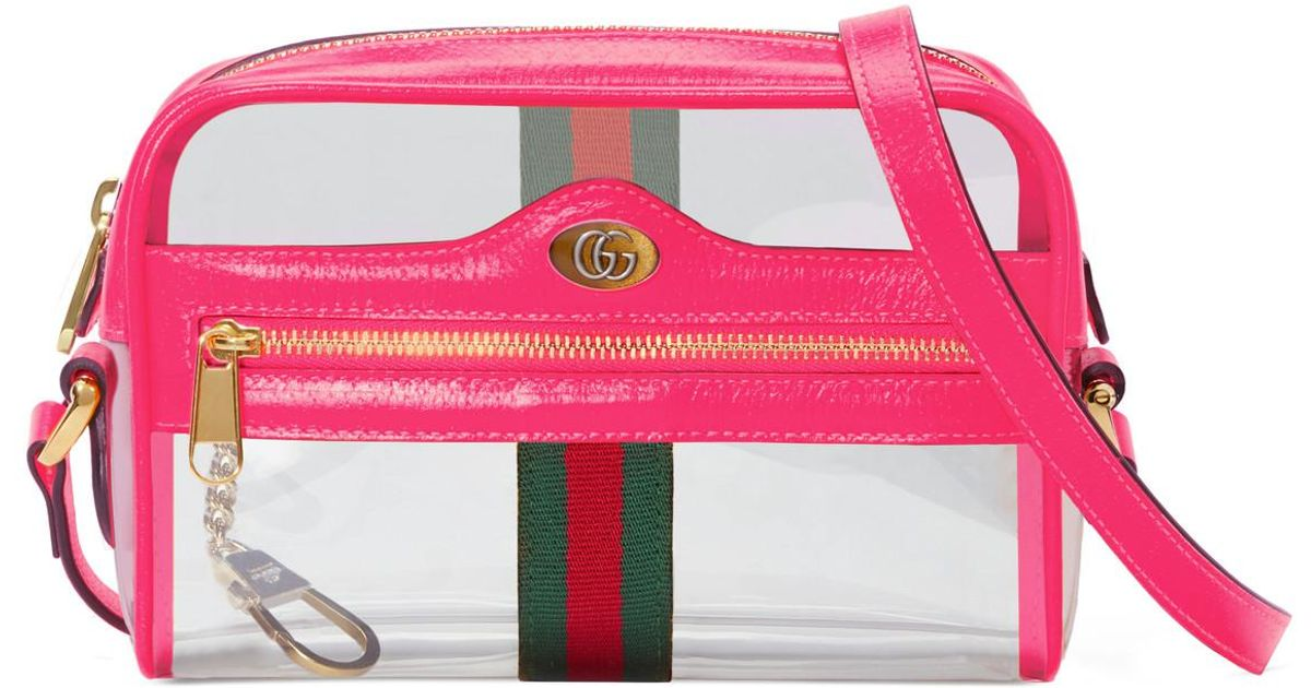 cdaa01dd9236 Gucci Ophidia Mini Transparent Bag Pink in Pink - Save 56% - Lyst
