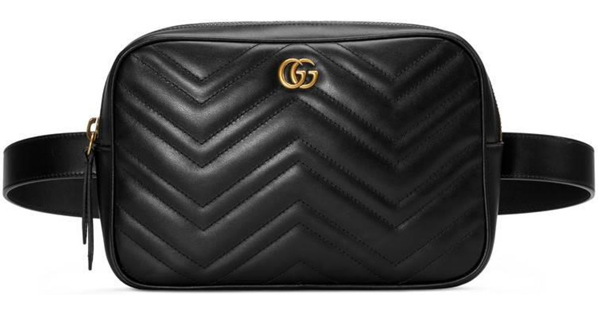 911478ce8ccf Gucci Gg Marmont Matelassé Belt Bag in Black for Men - Lyst