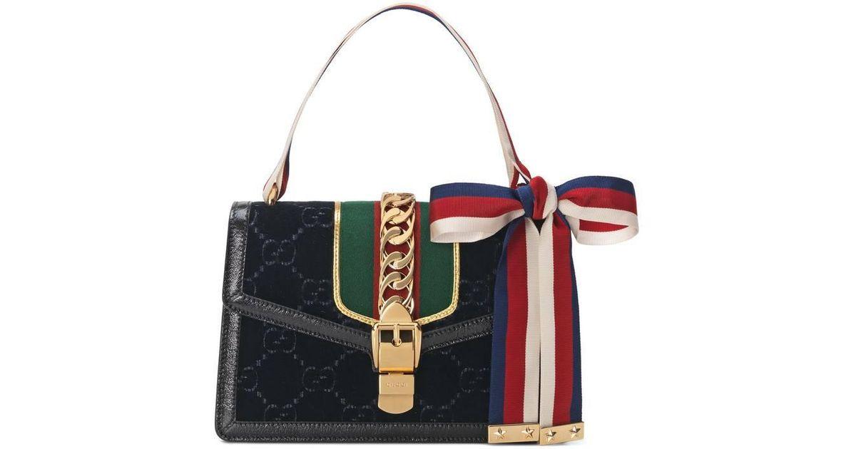 Sylvie GG velvet small shoulder bag - Black Gucci PnL0YV