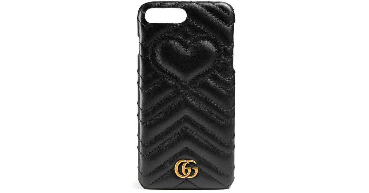 best loved 8328a de613 Gucci Black Gg Marmont Iphone 7 Plus Case