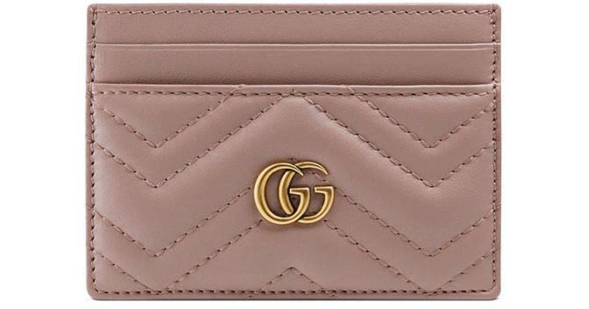 the best attitude 85bd6 a3dfe Gucci Pink GG Marmont Card Case