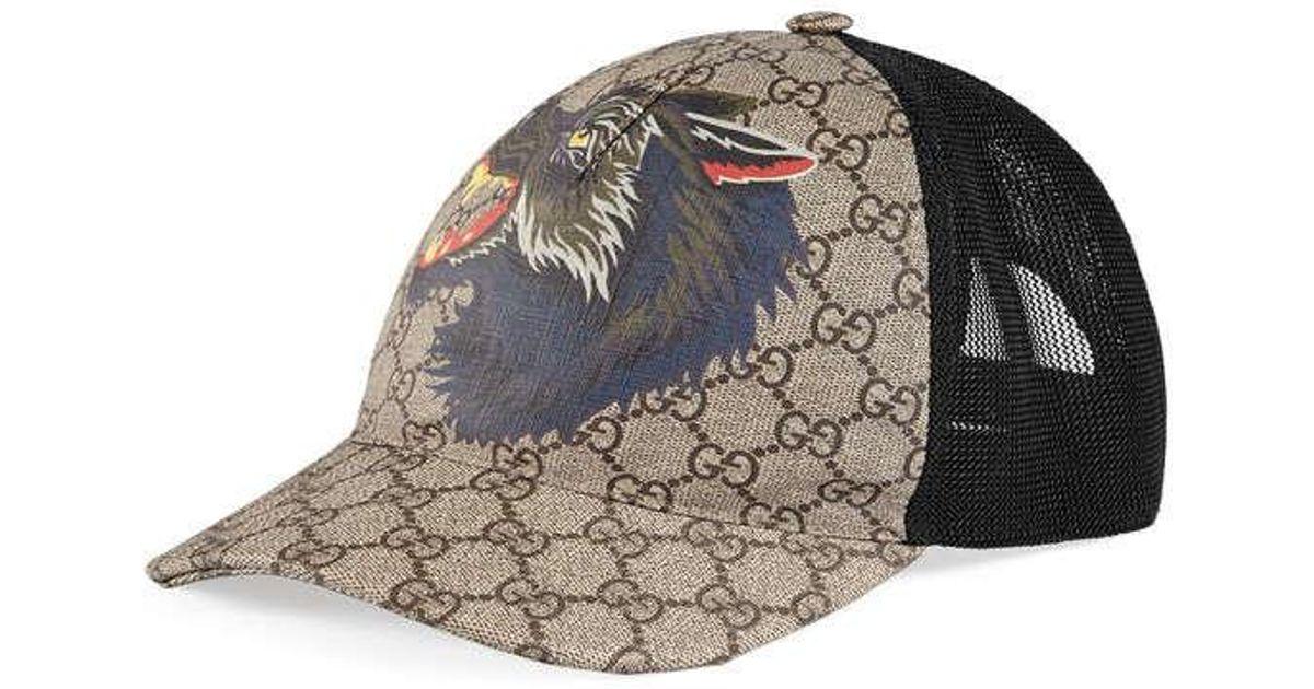 6a694843af Casquette Suprême GG avec loup Gucci pour homme en coloris Black