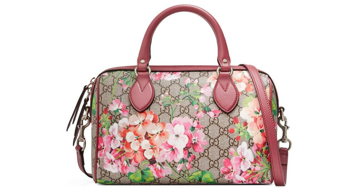 452626f99fb9 Gucci Blooms GG Supreme Top Handle Tote Bag in Pink - Lyst