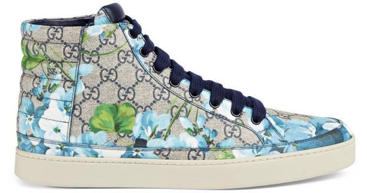 Gucci Canvas Gg Blooms High-top Sneaker