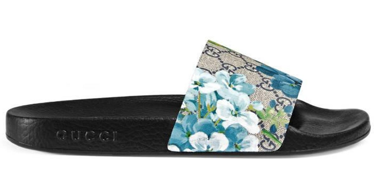 59474782e59 Lyst - Gucci Gg Blooms Sandal in Blue for Men