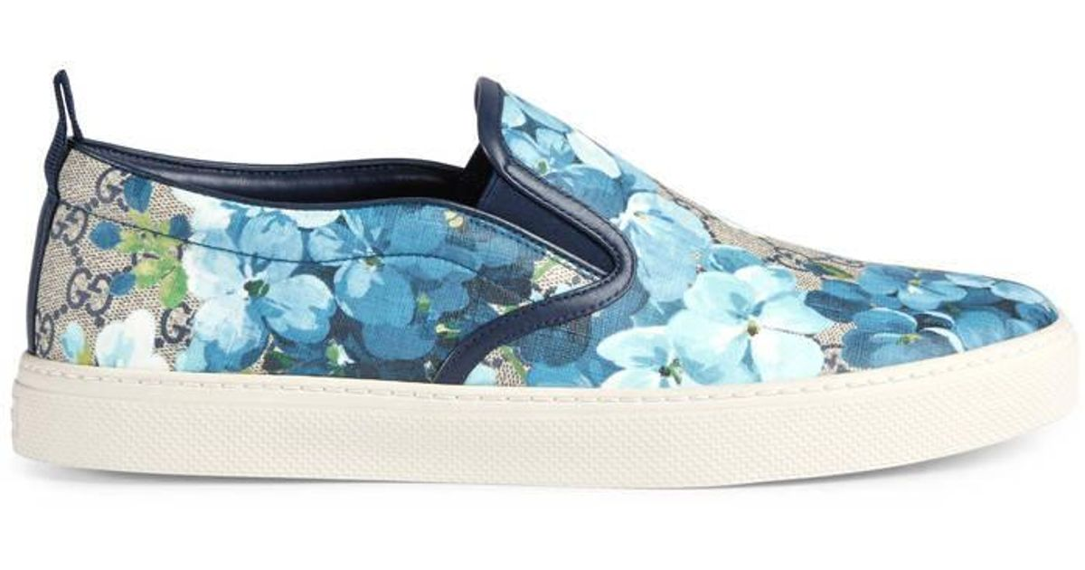 775a494ad44 Lyst - Gucci Gg Blooms Slip-on Sneaker in Blue for Men