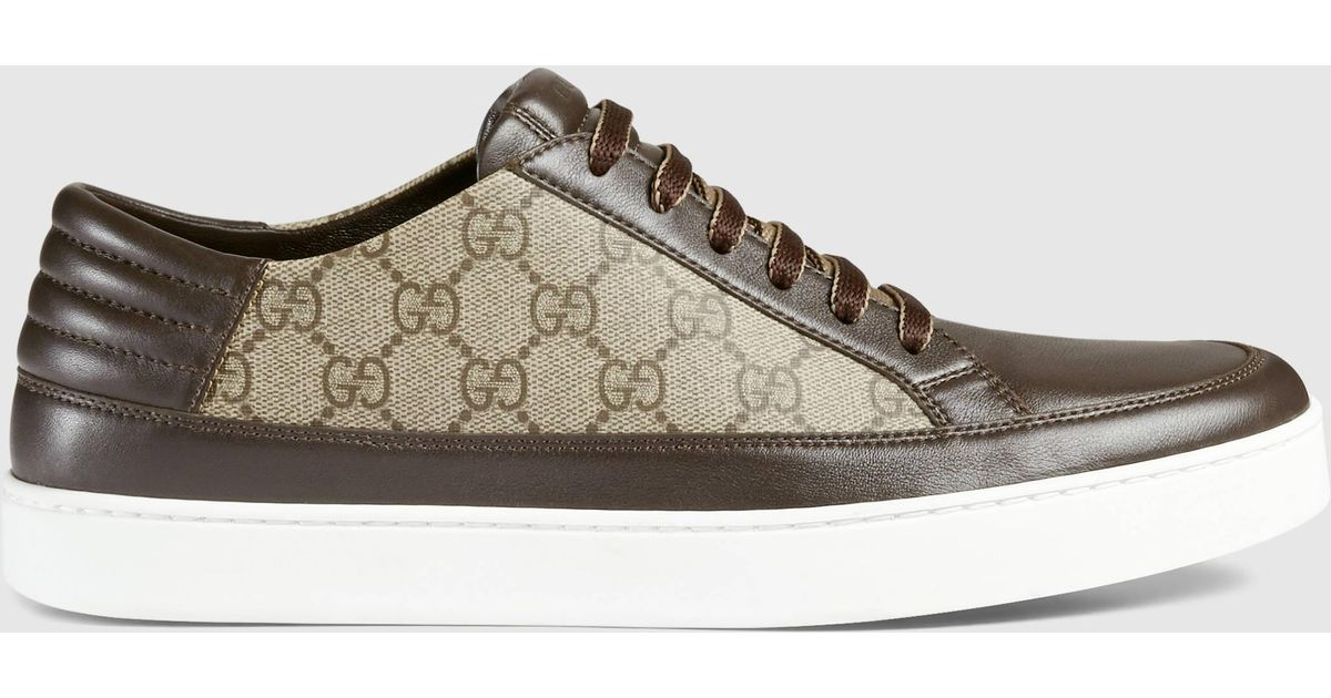 united states get online wholesale online Gucci Brown Gg Supreme Sneaker for men