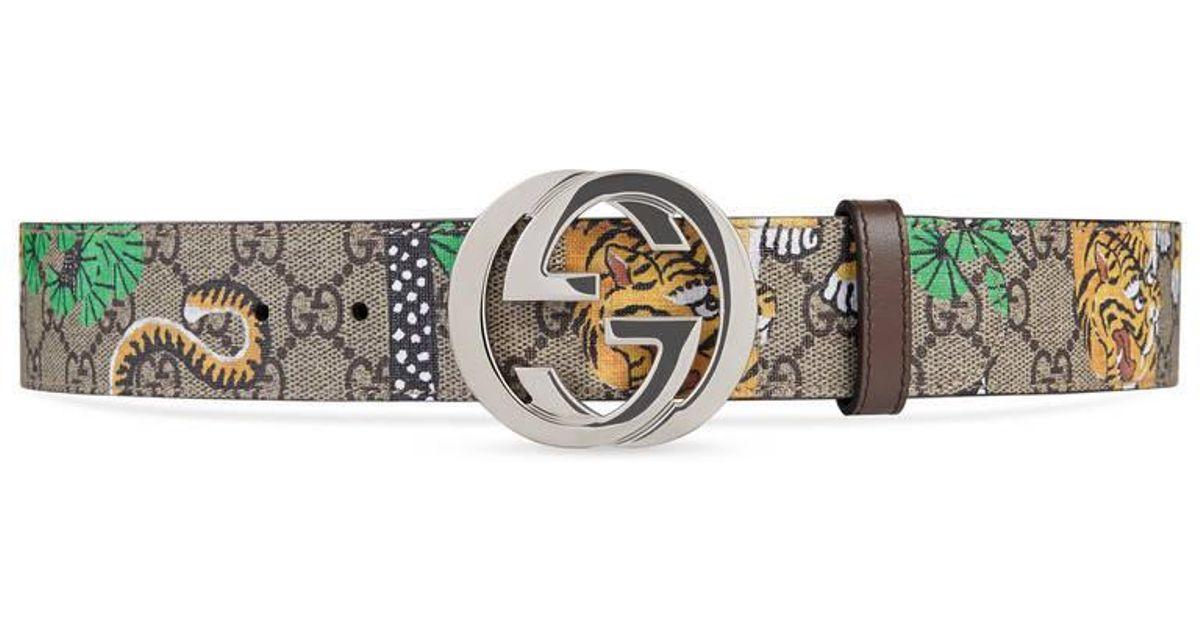 15e9001ced2 Gucci Bengal Gg Supreme Belt - Lyst