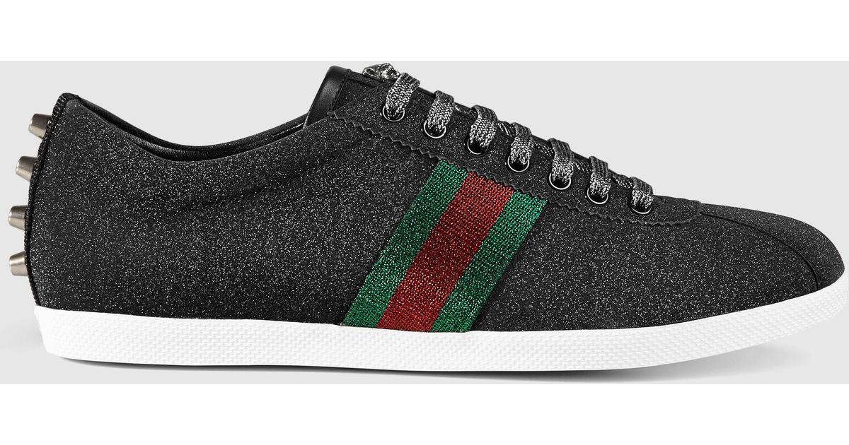 Gucci Glitter Web Sneaker in Black for Men - Lyst 9237b88978