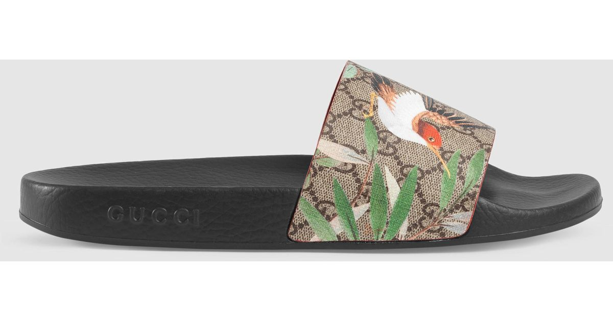 a7c55015421 Lyst - Gucci Tian Printed Slides for Men