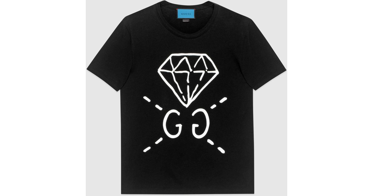 Gucci Ghost Cotton T Shirt In Black For Men Lyst