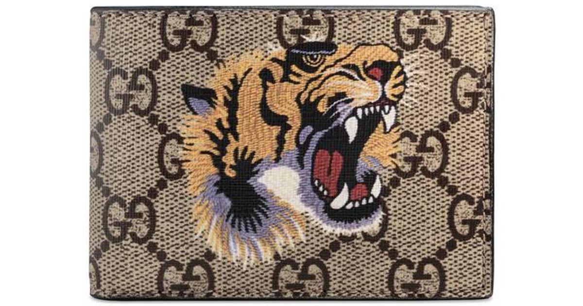 cf371144527 Gucci Tiger Print Gg Supreme Wallet - Image Of Wallet