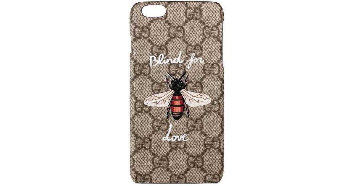 sports shoes ea675 9da97 Gucci Natural Blind For Love Iphone 6 Plus Case