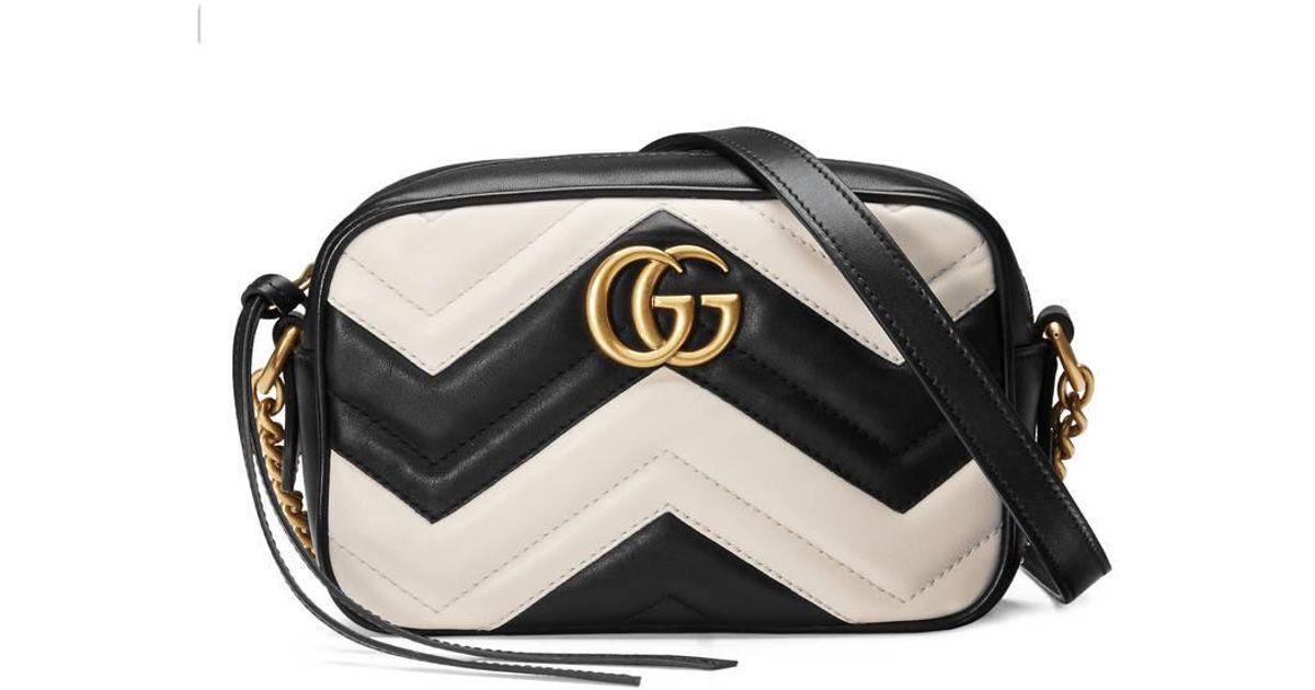 04b819dc6 Gucci Gg Marmont Matelassé Mini Bag in Black - Lyst