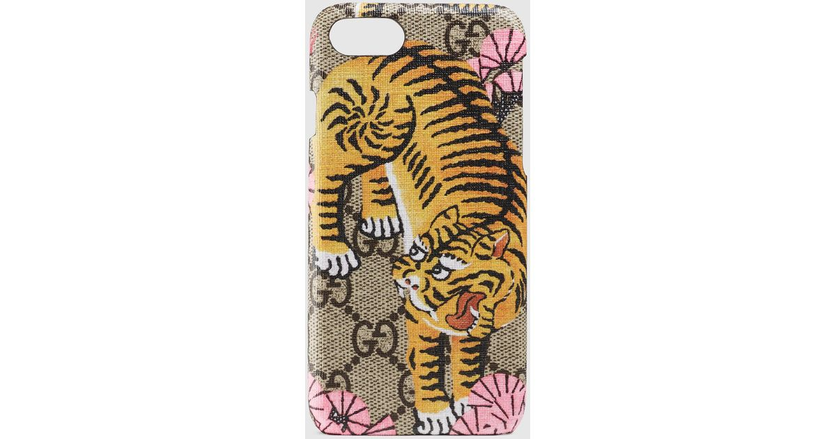new style 8de23 2f5ff Gucci Brown Bengal Iphone 7 Case