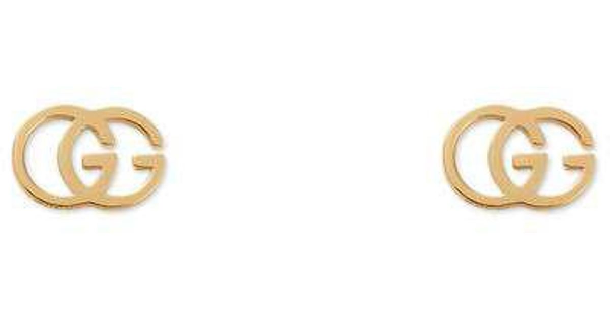 bbeeacb63 Gucci GG 18ct Yellow-gold Tissue Stud Earrings in Yellow - Lyst
