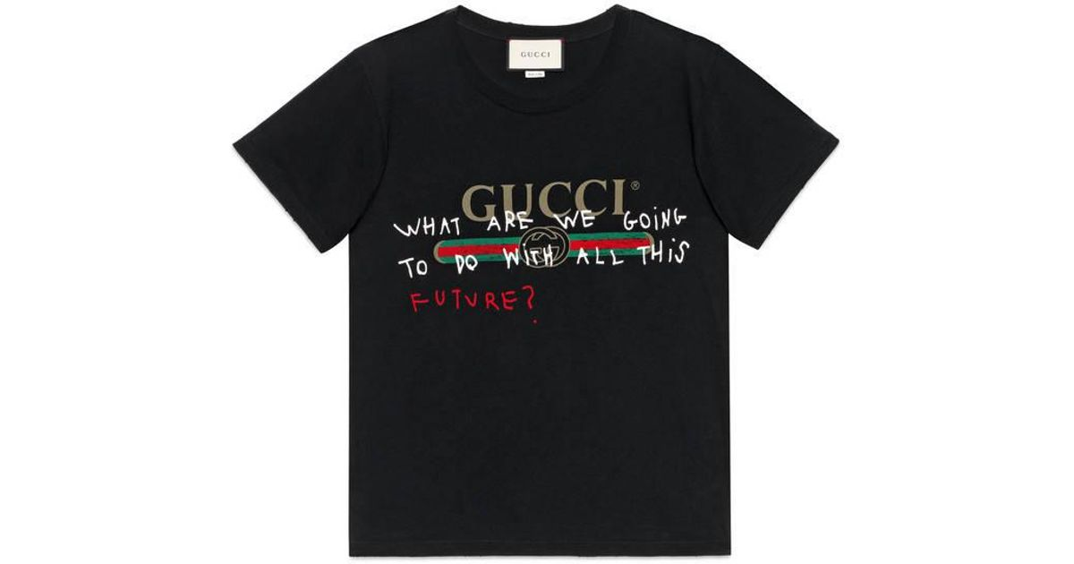 6806df5651e1 Lyst - Gucci Coco Capitán Logo T-shirt in Black for Men